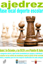 Ajedrez - Fase Local Deporte Escolar